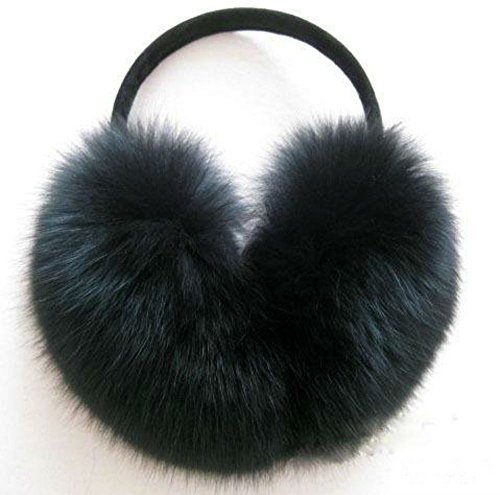 - AKOAK Imitation Rabbit Fur Earmuffs Fashion Warm Woman Warm Ear Cover,Black