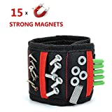 Magnetic Wristband for Holding Tools - 15 powerful magnets with Adjustable Strap Holding Screws, Nails, Drill Bits Gadgets Tools Gift for Men,DIY Handyman, Father/Dad,Husband,Boyfriend,Him,Women Birth