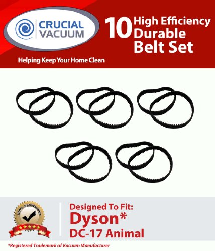 Long Life Durable Belt Set 10 Pack Designed To Fit Dyson DC17 Upright Vacuums; Compare To Dyson Vacuum Part# 911710-01, Appliances for Home