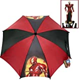 Iron-Man Kids Black & Burgundy Folding Umbrella