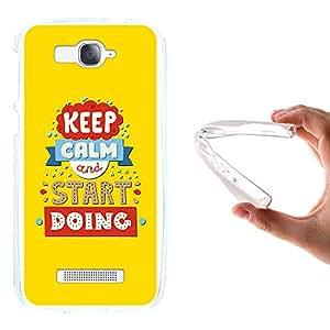 WoowCase - Funda Gel Flexible { Alcatel One Touch Pop C7 } Keep Calm and Start Doing Carcasa Case Silicona TPU Suave