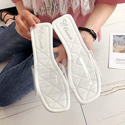 YUCH Chaussures pour De White Plage Plates Femmes fBxUwfrd