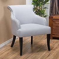 Thompson Light Grey Fabric Arm Chair