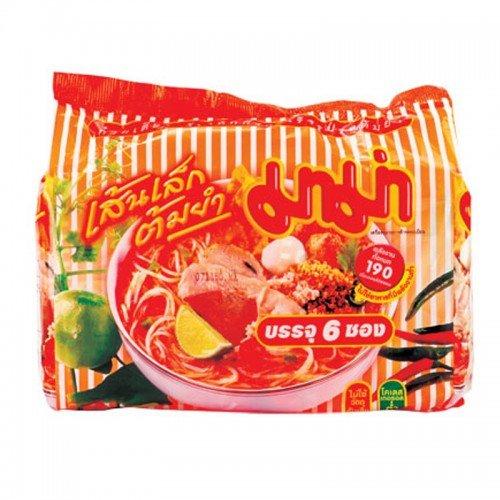 Mama Rice Vermicelli Shrimp Tom Yum 55 g. Pack 6 (Organic Rice Vermicelli compare prices)