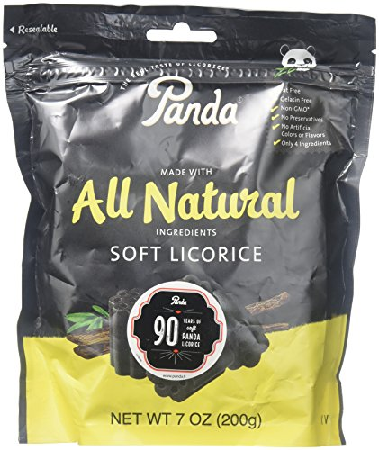 Licorice Banana - Panda Natural Licorice Chews 7oz (pack Of 4)