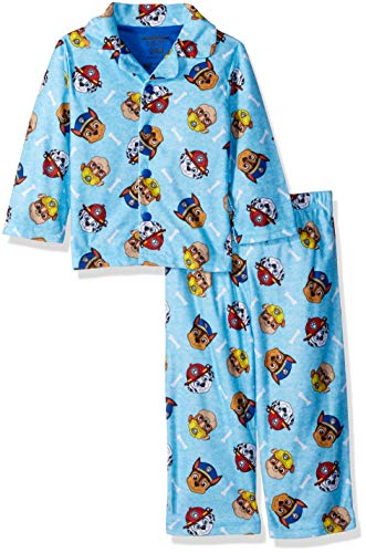 Nickelodeon Baby Boys Paw Patrol 2-Piece Pajama Coat Set, Safety Crew Blue 12M ()