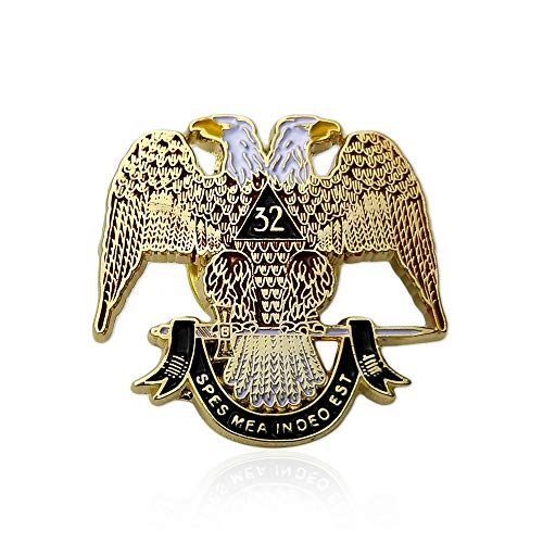 - Scottish Rite 32nd Degree Masonic Lapel Pin Badge