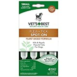 Vet's Best Topical Flea & Tick Treatment for Dogs up to 15lbs, 4 Month Supply