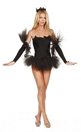 Amazon Nom De Plume Inc Sexy Stretch Lycra Black Swan Dress