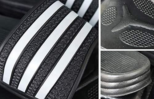 7 US Women//6 US Men, Black Korean Style Three Striped Slippers Women//Men,Soft Sandals Suitable for Indoor/&Outdoor 5 Sets