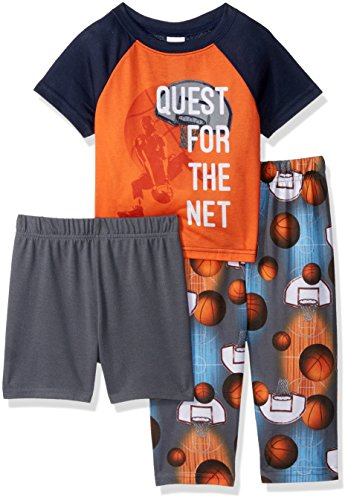 The Children's Place Baby Boys 3-Piece Pajama Set, Basketball (Surfer) 78713, 12-18 Months