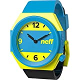 Neff Stripe Men's Stylish Watch - Cyan/Yellow/Black / One Size Fits All