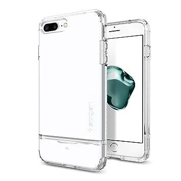 meet 43165 baf13 Spigen iPhone 7 Plus Case Flip Armor Jet White 043CS21047