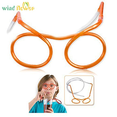 Colorful Novelty Flexible Soft Glasses Straw Plastic Drinking Tube Fun Drinking
