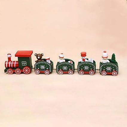 Coorun Historieta Animal Forma Madera Modelo Ornamentos de Navidad DIY decoración, Madera, Verde,