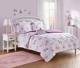 Unbranded Mini DEC PAR-T Paris Girl 3pc Comforter Set, Twin, Pink/Coral-Blush