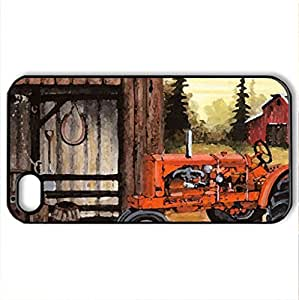 1938 Chalmers - Case Cover for iPhone 4 and 4s (Farms Series, Watercolor style, Black)