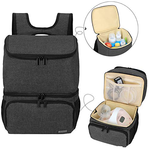 Teamoy Breast Pump Bag Backpack with Cooler Compartment for Breast