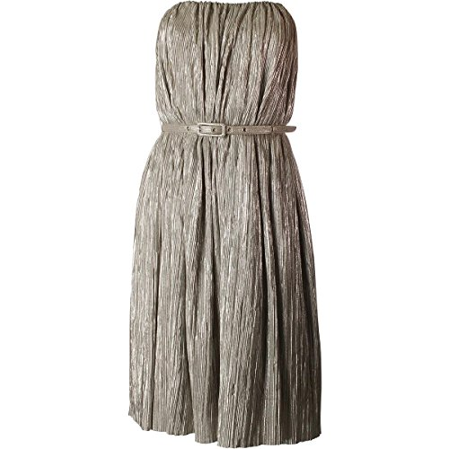 French Connection Fast Lola Ball Dress, Silver, 2 -