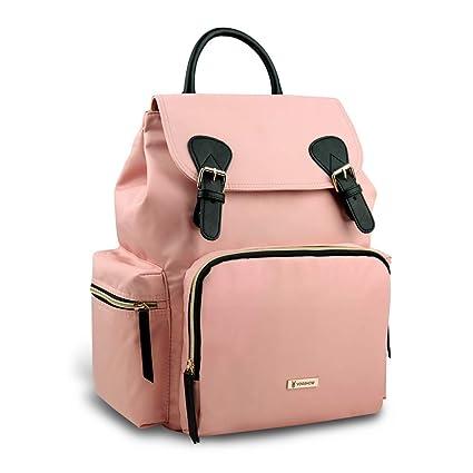 a basso prezzo 5e87b e0ee3 Vogshow Zaino Fasciatoio Pannolino, Borsa da Viaggio Impermeabile per Zaino  Multifunzione (rosa)