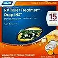 RV Toilet Treatment RV Trailer Motorhome Septic Tank Drop In Packets (Orange TST)