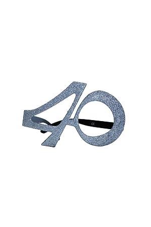 Gafas edad purpurina 40 años: Amazon.es: Juguetes y juegos