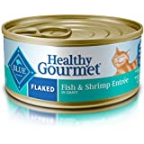 Blue Buffalo Healthy Gourmet Natural Adult Flaked Wet Cat Food, Fish & Shrimp 5.5-oz cans (Pack of 24)