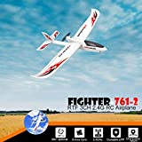 COLOR-LILIJ RC Airplane with 2.4GHz Over 320 ft Control, 6-Axis Gyro, 3-Level Flight Control assists - Help Beginners Learn to Fly Step by Step, Easy to Fly 761-2 RTF Plane for Beginners,US Stock