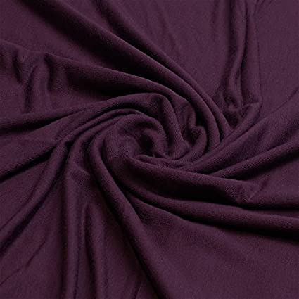 28a0bc2139e Plain Viscose Elastane Stretch Jersey Fabric 150 cm wide per metre (Berry):  Amazon.co.uk: Kitchen & Home