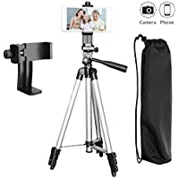 Tripod for iPhone, Peyou 50 Aluminum Camera Tripod + 360°Rotation Smartphone Holder Mount For iPhone X 8 8 Plus 7 7 Plus 6s 6 Plus, Samsung Galaxy Note 8 S8 S8 Plus S7 S7 Edge, More Phones & Cameras