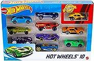 Hot Wheels Pacote 10 Carros Sortidos Modelo Pode Variar Mattel Multicor - 1 (UM) PACOTE SORTIDO SEM OPÇÃO DE E