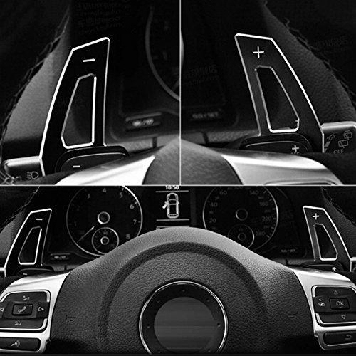 Aluminum Metal Black Paddle Shift Extension DSG For VW Golf 5 MK5 6 MK6 GTI R32 - Scirocco Vw Shift