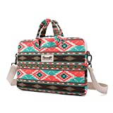 Canvaslife Canvas Fabric Ultraportable Laptop Carrying Case / Shoulder Messenger Bag / Briefcase for Macbook, Acer, Dell, Hp, Sony,ausa,samsung,lenovo, Notebook (15-15.6,New Bohemian )