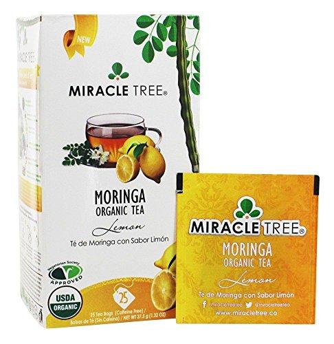 (Miracle Tree Organic Lemon Moringa Superfood Tea 25 ct (Pack of 3) )
