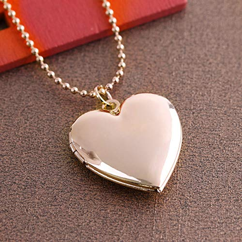 1 Pc Heart Shaped Friend Photo Picture Frame Locket Pendant for Necklace Romantic Fashion Jewelry Nice Gift ()