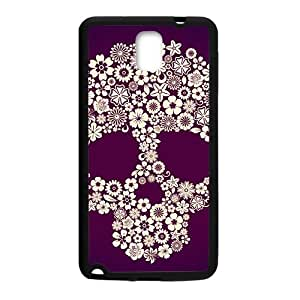 Flowers Skull Hot Seller Stylish Hard Case For Samsung Galaxy Note3
