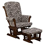 Cotton Tale Designs Sumba Zebra Print Glider with Ottoman