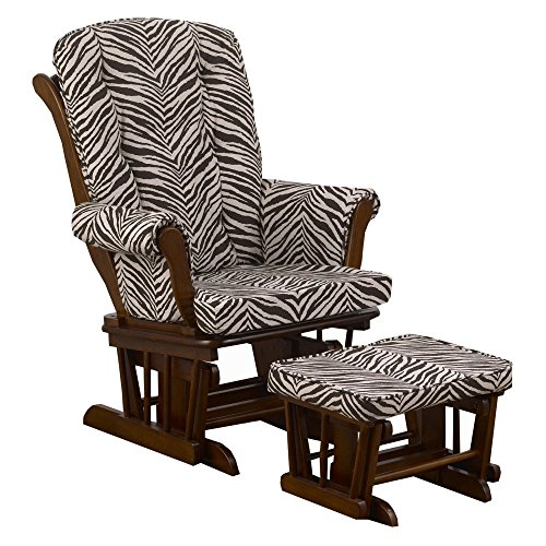 Cotton Tale Designs Sumba Zebra Print Glider with Ottoman by Cotton Tale Designs