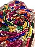 IBC Traditional Multi-Color Indian Phulkari Party Wear Dupatta Punjabi Scarf