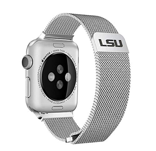 (LSU Tigers Stainless Steel Band for Apple Watch - 42mm/44mm)
