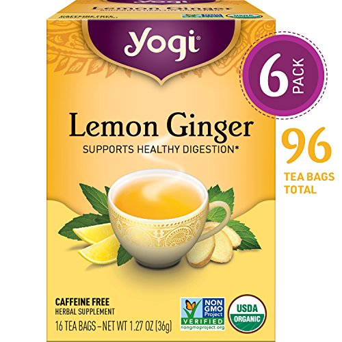 (Yogi Tea - Lemon Ginger - Supports Healthy Digestion - 6 Pack, 96 Tea Bags Total)