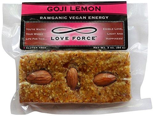 Love Force Goji Vegan Energy Bar, Lemon Rawganic, 3 Ounce 516oZEuzCBL