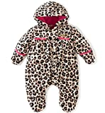 Juicy Couture Baby Pram - Printed Silky Sherpa, Mocha, 3-6 Months