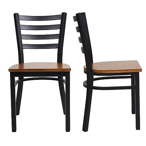 Amazon.com: LuckyerMore - Juego de 2 sillas de comedor de ...