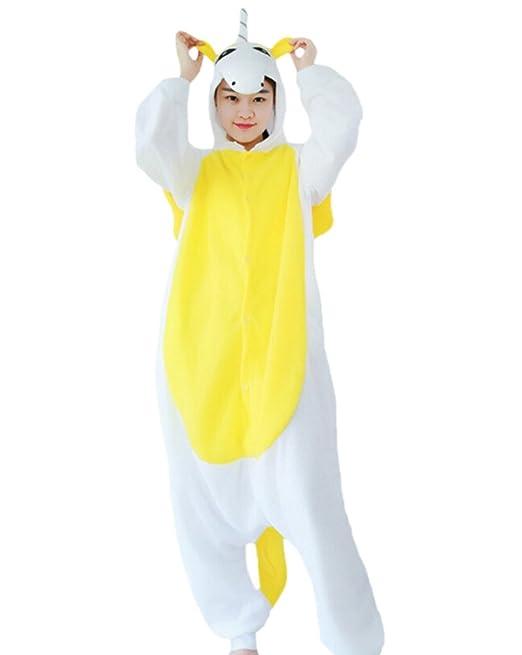 Fandecie Pijama Unicornio Amarillo, Onesie Modelo Animales para adulto entre 1,60 y 1,75 m Kugurumi Unisex.: Amazon.es: Ropa y accesorios