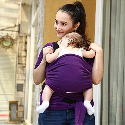 Egmaoベビー2017ベビーキャリア用スリング新生児用ソフト幼児用ラップ通気性ラップヒップシート母乳出産快適な看護カバー(パープル)   B07514LVYJ