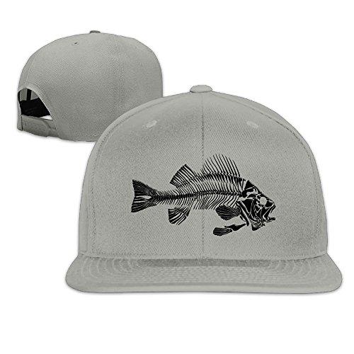 Fish Bone Adjustable Bill Hat Baseball Caps (Skin And Bones Set)