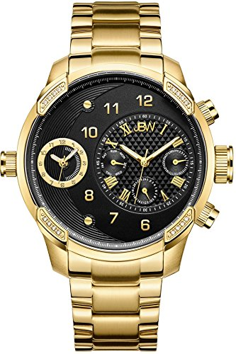 18k Diamond Wrist Watch - JBW Men's J6344B G3 0.16 ctw 18k gold-plated stainless-steel Diamond Watch