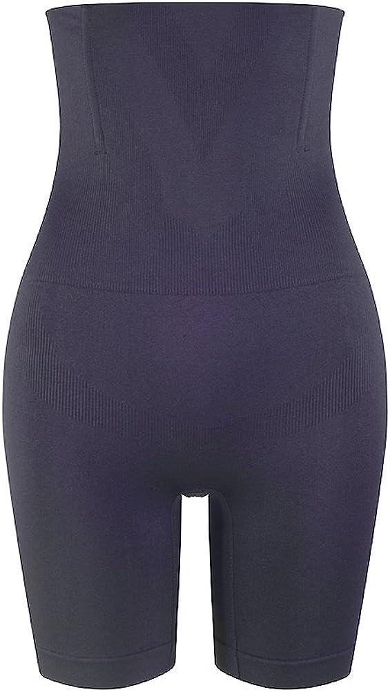 Amazingjoys Women's Hi-Waist Body Shaper Tummy Control Panty Smooth Thigh Slimmer