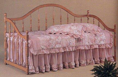 New Oak Finish Camel Back Daybed Day Bed Link Spring ()